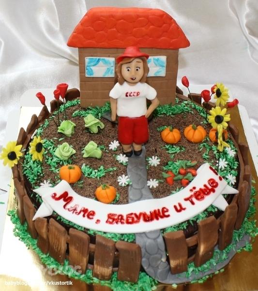 Торт для свекрови на юбилей
