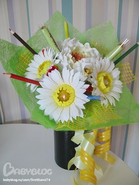 Букет из цветов своими руками для учителя 414