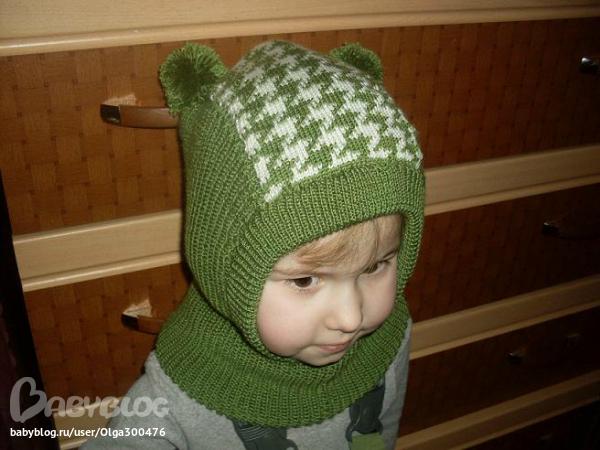 Вязание детской шапочки на машине 70