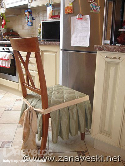 Чехлы на стулья своими руками на кухню - Xaxatalka.ru