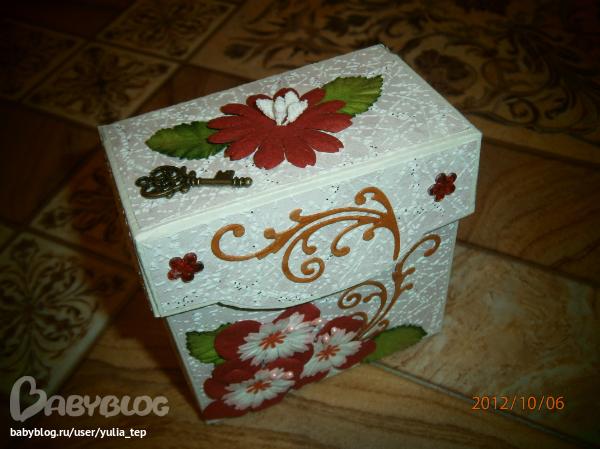 Как сделать из чайной коробки шкатулку