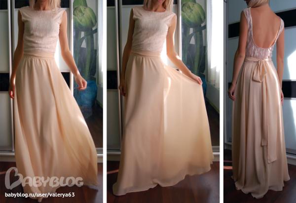 Платье полусолнце из шифона