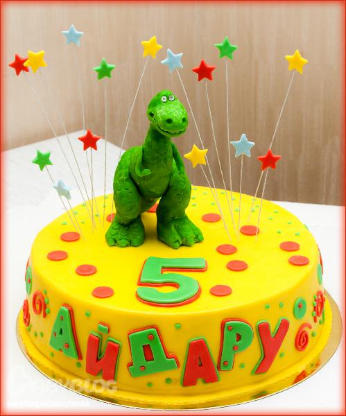 Тортик динозавр фото
