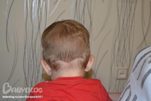 Как сделать полоски на прическе у мальчика