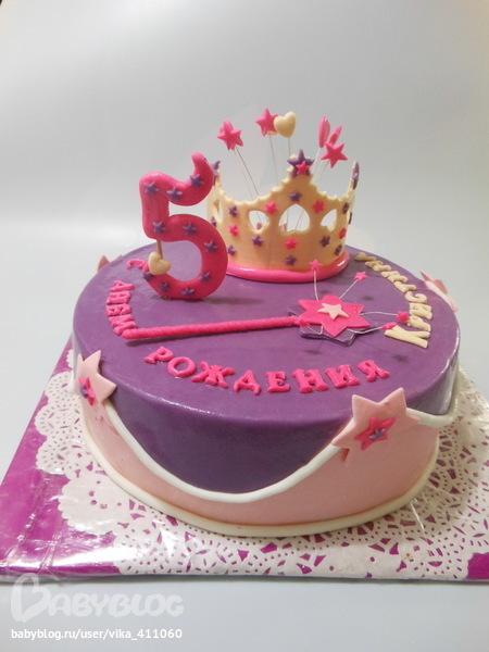 Pin торт для девочки 5 лет из мастики on
