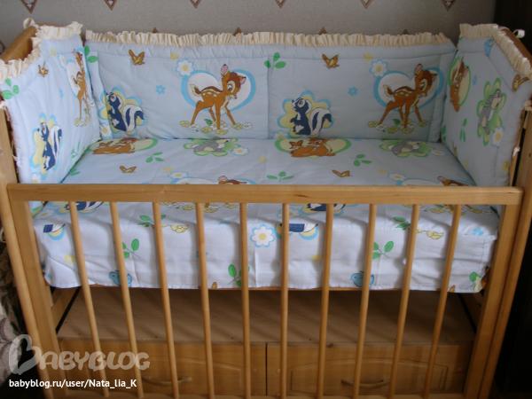 Комплект для кроватки новорожденного своими руками