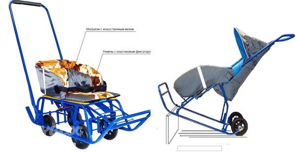 Универсани с ножным переключением - санки на колесах для города и GC12