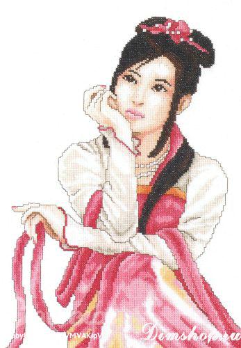 Набор для вышивания LANARTE 35085 (Молодая японка) .