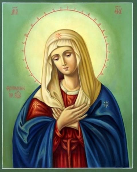 """девочки, может есть у кого схема иконы божия матерь  """"Умиление """"? очень хочется ее вышить!"""