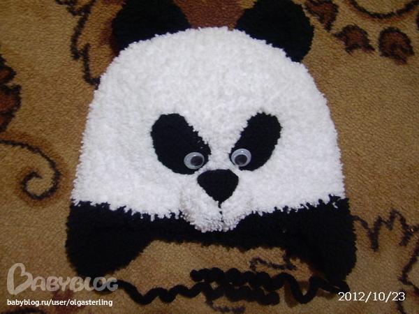 Шапочка панда.