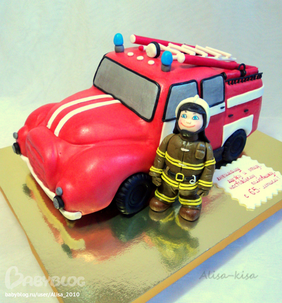 Торты для пожарных картинки