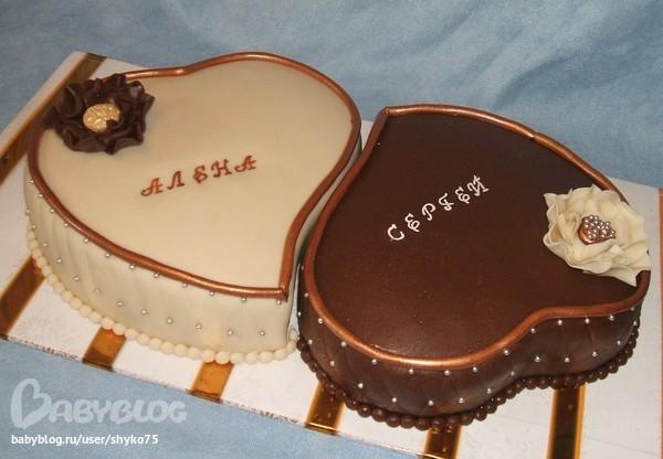 Торт в виде сердца фото