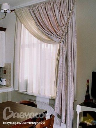 Шторы для кабинета в основном шьют классические с бандо, с ламбрекенами.  А если кабинет в современном стиле...