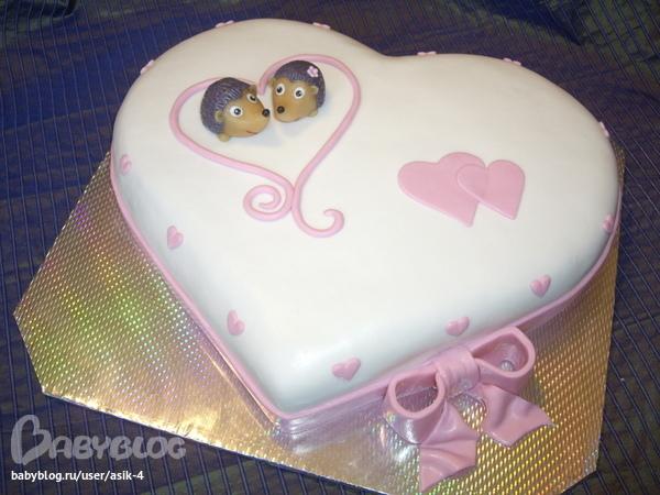Свадебный торт с ежиками фото