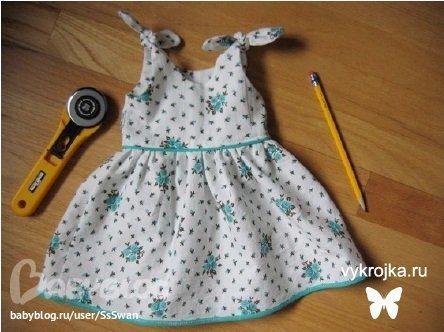 шьем маленькое платье своими руками