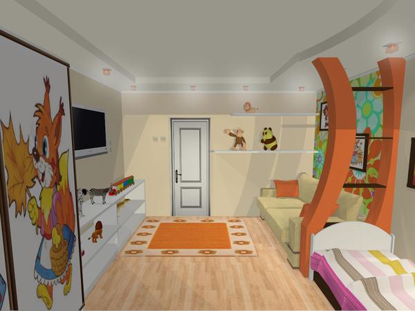 Детская комната из гипсокартона фото