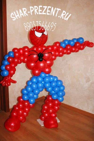Человек паук из шаров своими руками