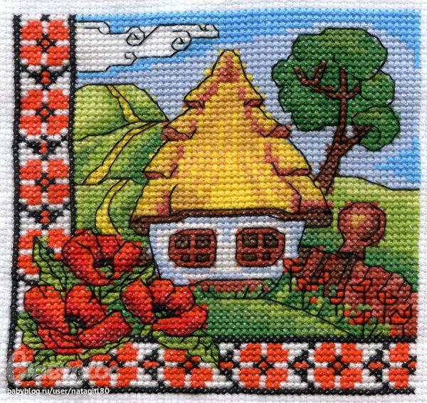 вышивка крестом украинская вышивка схемы