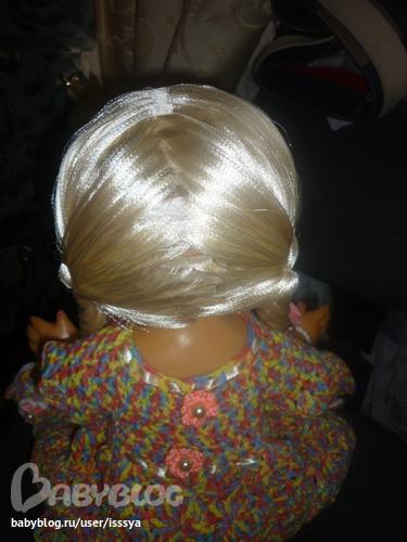 куклы с волосами из атласных лент