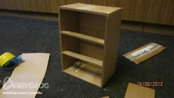 Как сделать маленький комод из картона
