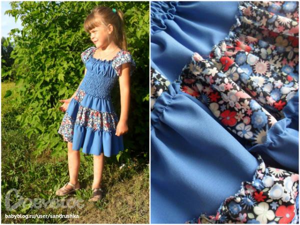 Платье резинка для девочек как сшить 82