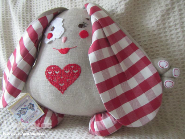 Подушка игрушка заяц