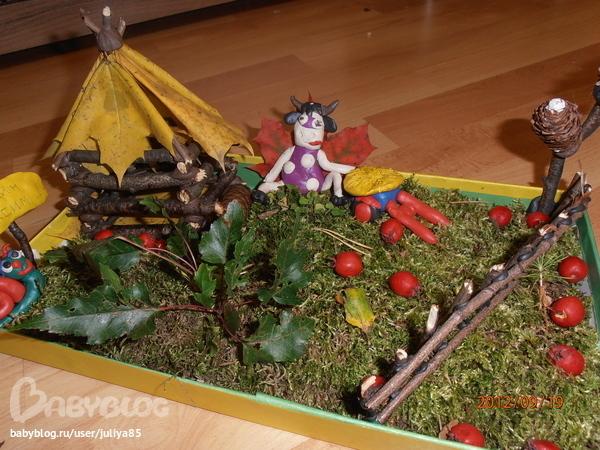 Поделка для детей на тему осень