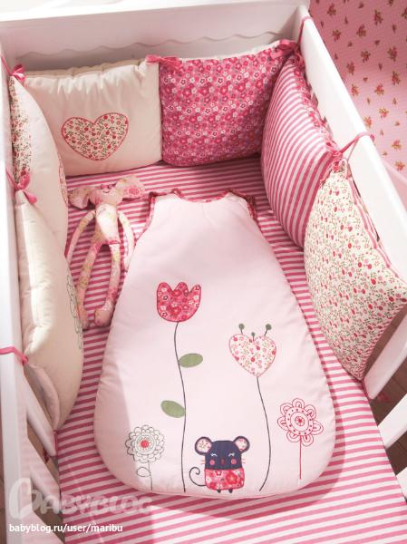 Бортики в кроватку своими руками подушками