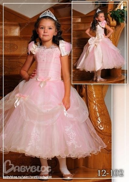детские бальные платья своими руками