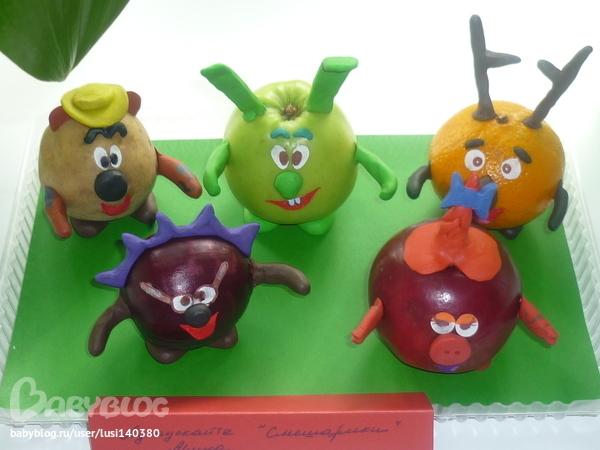 Поделки из овощей и фруктов babyblog ru