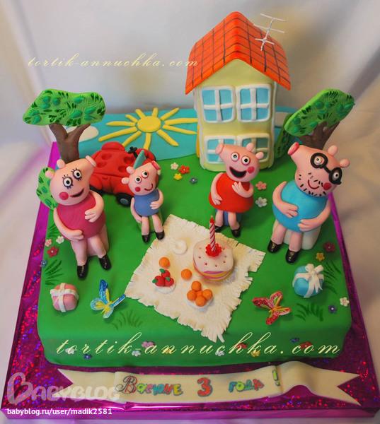 современное функциональное торт свинка пеппа мк SAS