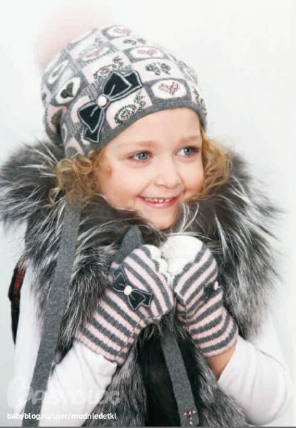 Зимние шапки для девочек 4