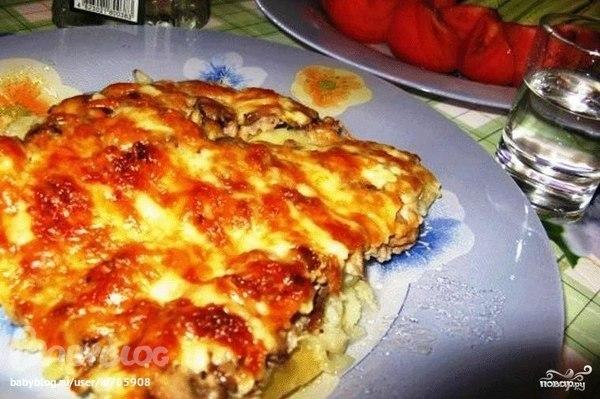 Мясо по-французски с картошкой и грибами. Пошаговый рецепт