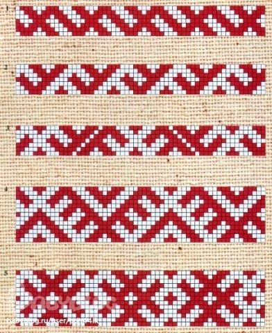 схемы ткачества славянских поясов