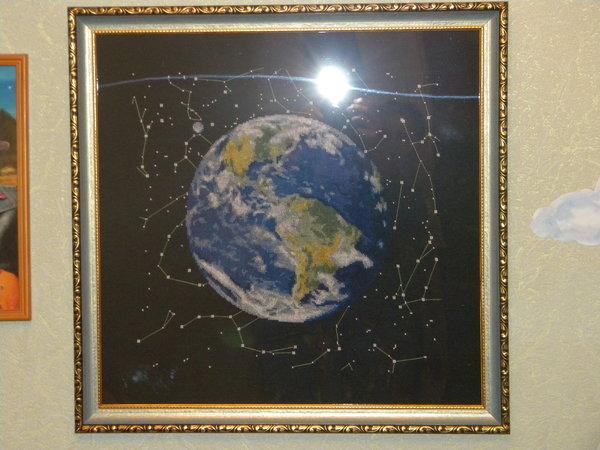 Вышивка крестом планета 81