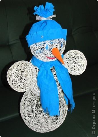 Поделки снеговика из шаров