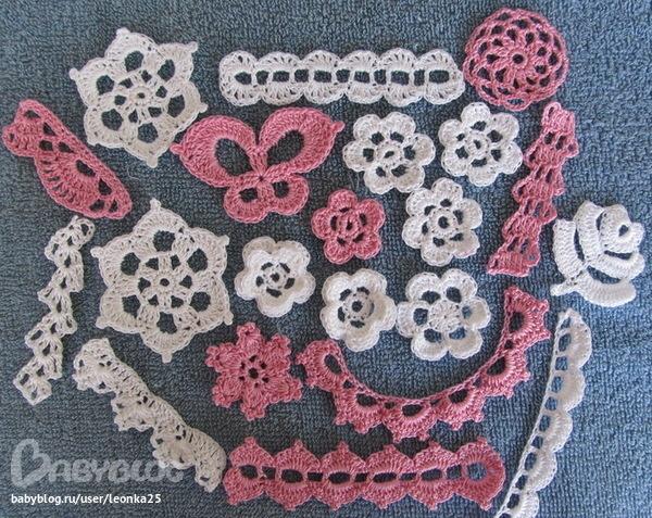 Вязание декоративных элементов крючком