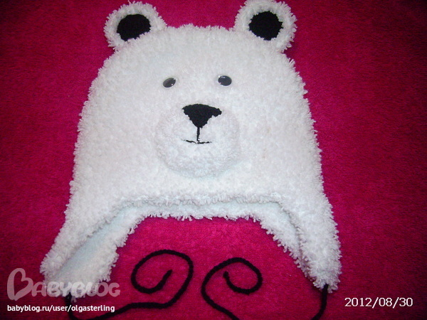 Шапка белого медведя своими руками фото