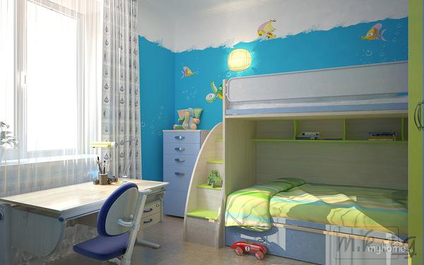 Дизайн комнаты 9 кв.м для мальчика