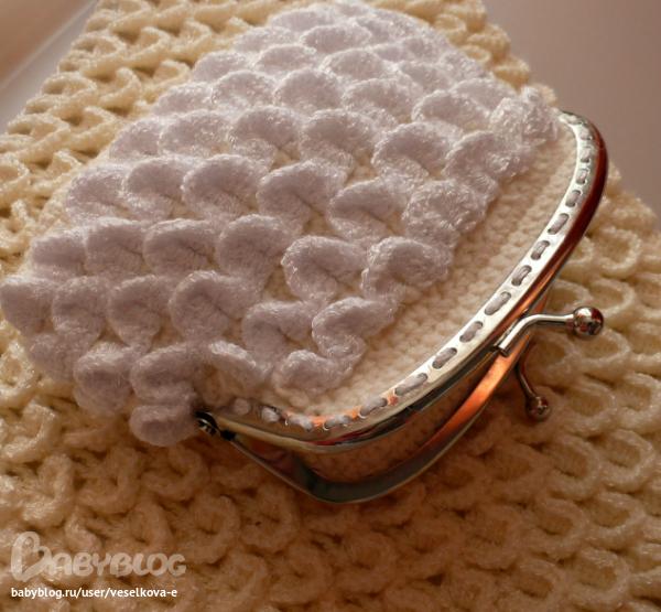 Вязание кошелька крючком