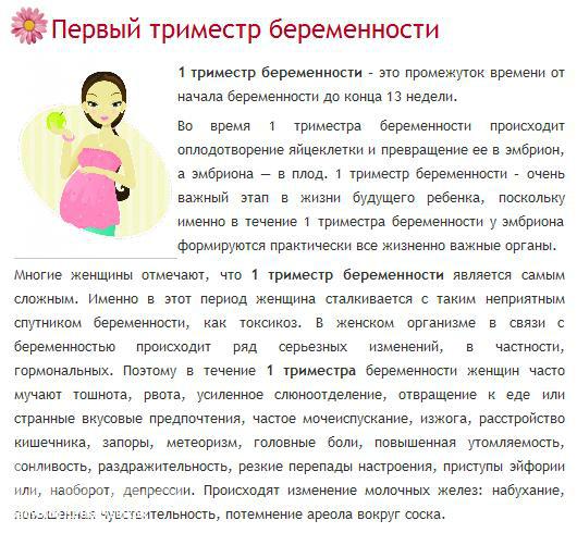Беременность первый триместр депрессия