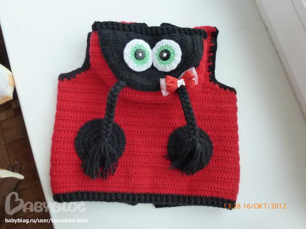Вязание спицами божья коровка свитер 42