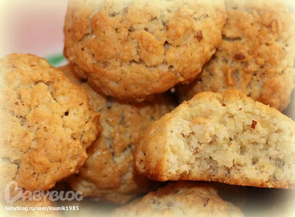 мягкое овсяное печенье рецепт с фото
