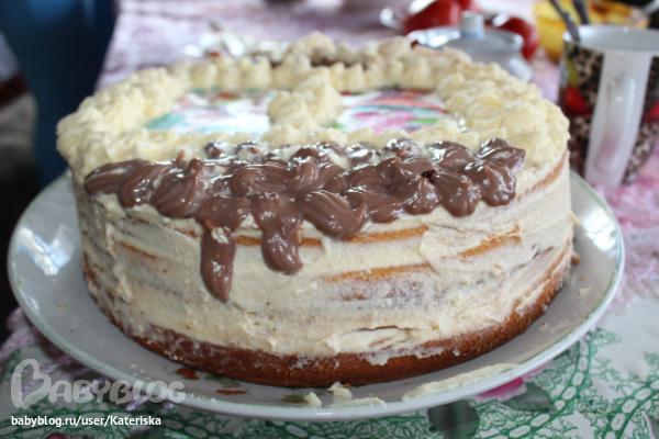 Крем для шоколадного бисквита с сыром маскарпоне