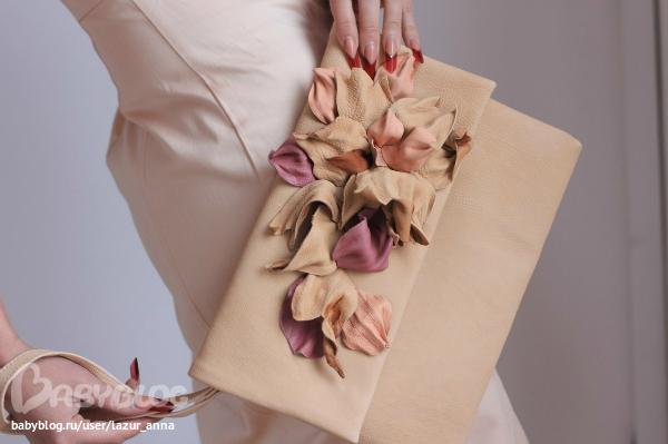 Фото мастер-класс: сумка-клатч из кожи или ткани своими руками