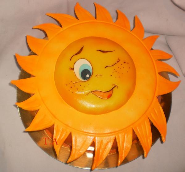 Как сделать солнце в виде