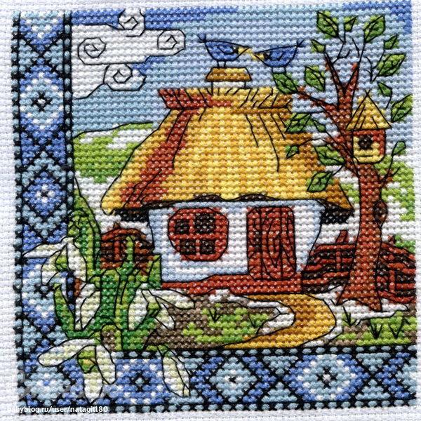 Схемы вышивки «хата» - Вышивка крестом