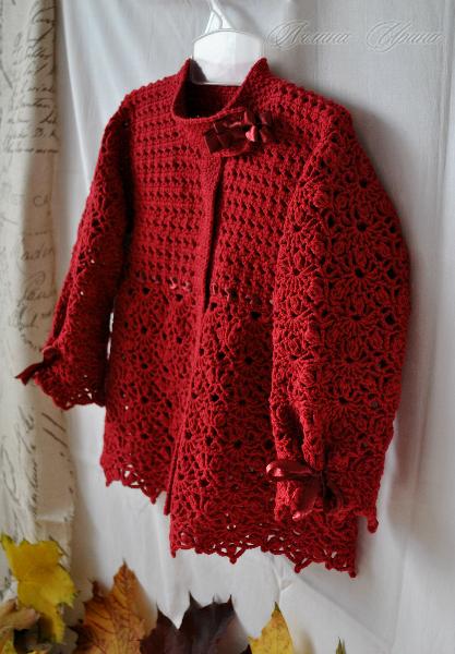 рукоделие вязание крючком детских кофточек на осень
