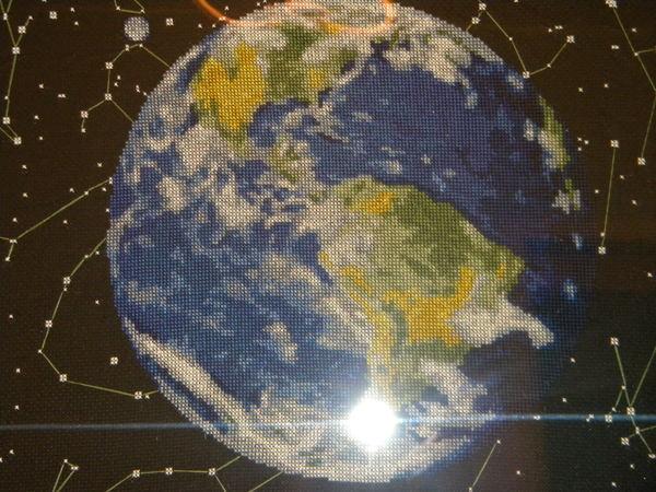 Вышивка крестом планета 62