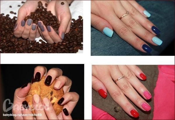 Сочетание цветов ногтей
